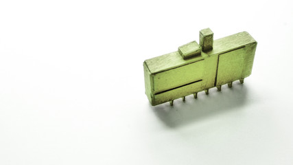 cardboard model green