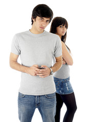 Young Couple Texting.Models Released