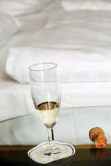 Champagne and bed