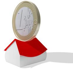 euro coin crushing house