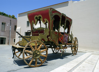 Venetian horse car in Chania city, Greece