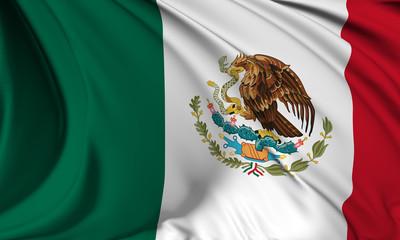 Mexico flag Close Up