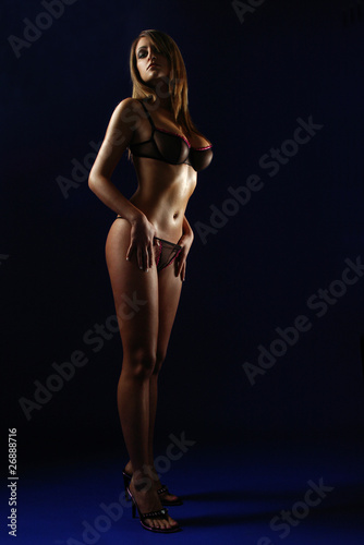 Leinwanddruck Bild Frau mit lange Beine