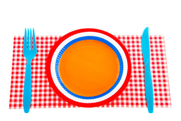 typical Dutch place setting isolated white background