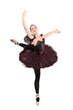 Full length portrait of a ballerina making a ballet