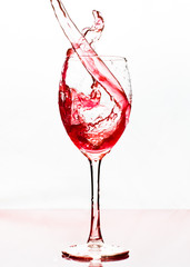 Wine pourred in a glass