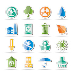 Ecology and nature icons -vector icon set