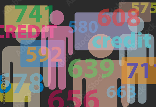 People credit bureau score report card numbers