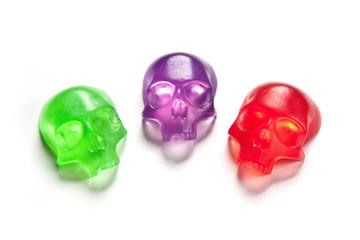 Three skull soap bars