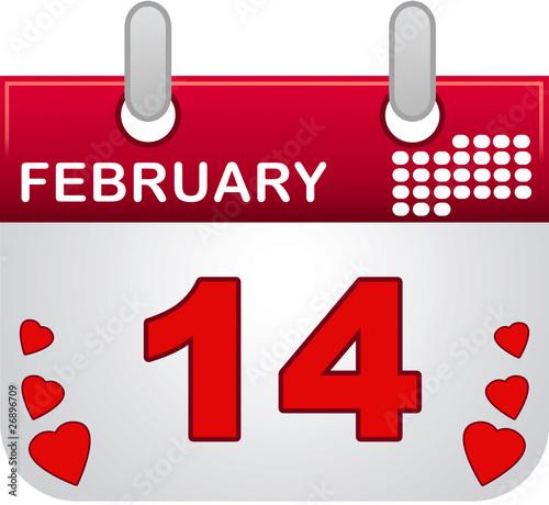 february fourteen calendar