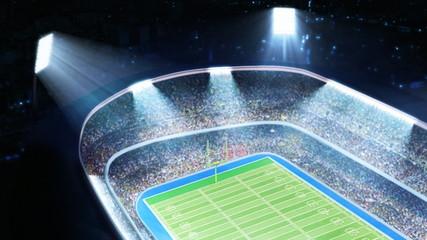 American football stadium. Top view.