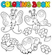 Coloring book with butterflies 1