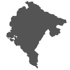 Karte von Montenegro - freigestellt