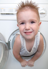 boy from washer
