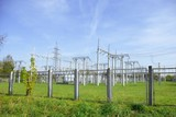 high-voltage substation poster