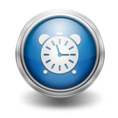 Icono borde metalico reloj