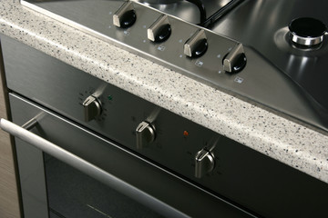 close up shot of stove for Modern Kitchen