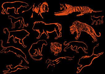 orange predator silhouettes