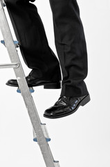 Man on step ladder