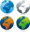 Bunter Globus
