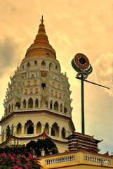 Kek Lok Si buddist temple tower in penang,malaysia