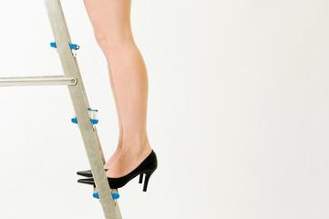 Legs on ladder