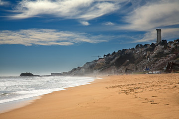 beach at Vina del Mar, Chile