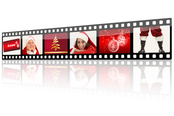 Filmrolle Weihnachten rot