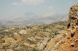 Rocky desert landscape in Northern Kurdistan, East Turkey poster
