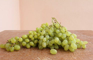 Grapes.Grapevine on a wooden structure