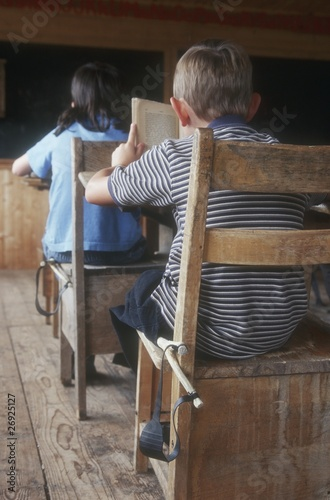 Children In An Old Classroom