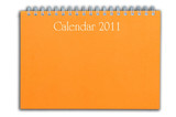 orange color calendar as white isolate background