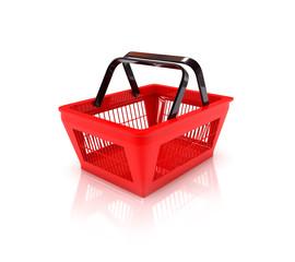 Einkaufskorb mit Freistellungspfad