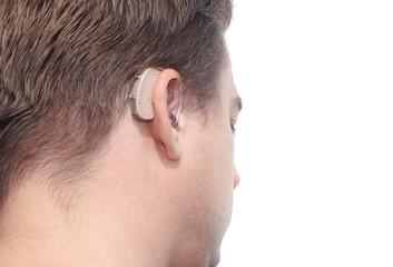 Deaf man's profile