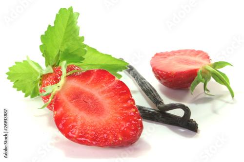 Erdbeeren mit Vanille
