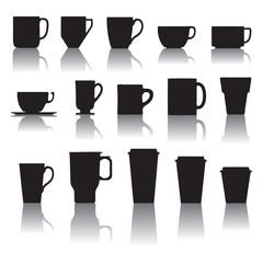 set di tazze e bicchieri da caffè