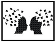 Puzzle heads explosion vector