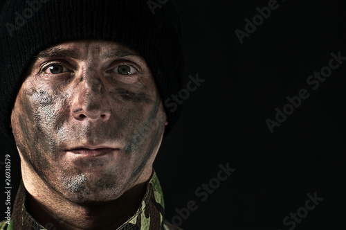 Portrait of soldier