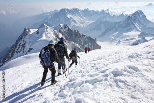 Alpinistes au Mont Blanc