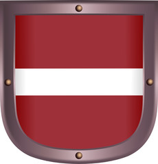Flag on the medieval shield