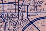 fiktive Straßenkarte III blau/rose