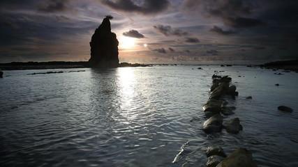 peaceful sea at sunset