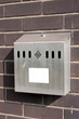Outdoor Smokers Cigarette Bin Ashtray on Brick Wall