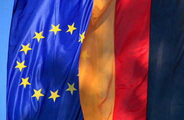 Europaflagge Deutschlandflagge