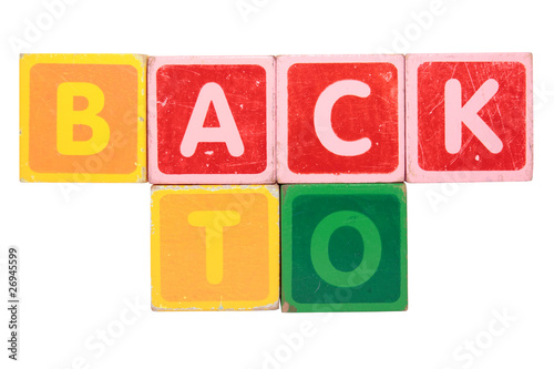 back to in toy block letters