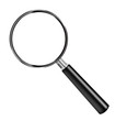 magnifying glass loupe to magnify enlarge isolated
