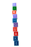 earthquake in toy letters