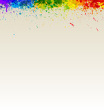 Fototapety Color paint splashes artwork. Gradient splashes vector backgroun