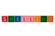 spelling in toy block letters
