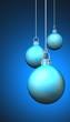 Cyan Blau Weihnachtskugeln Hintergrund 09